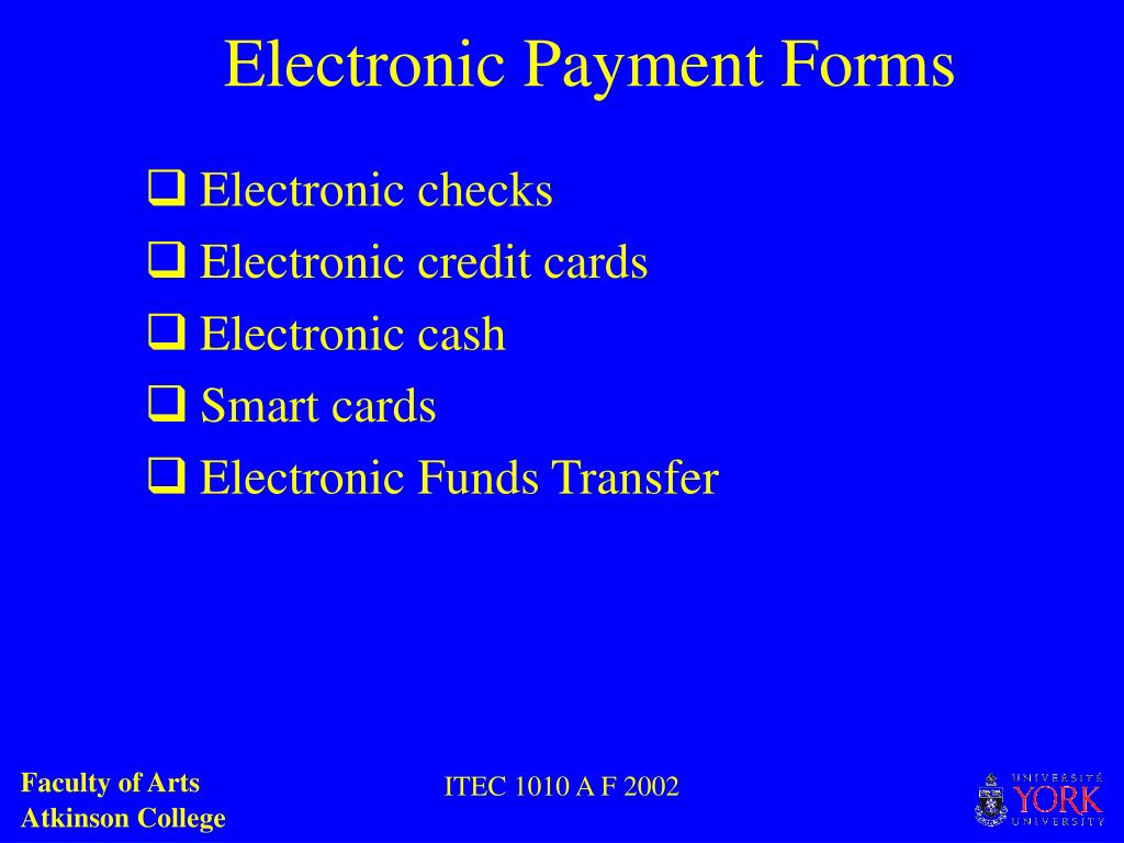 Electronic Payment Forms