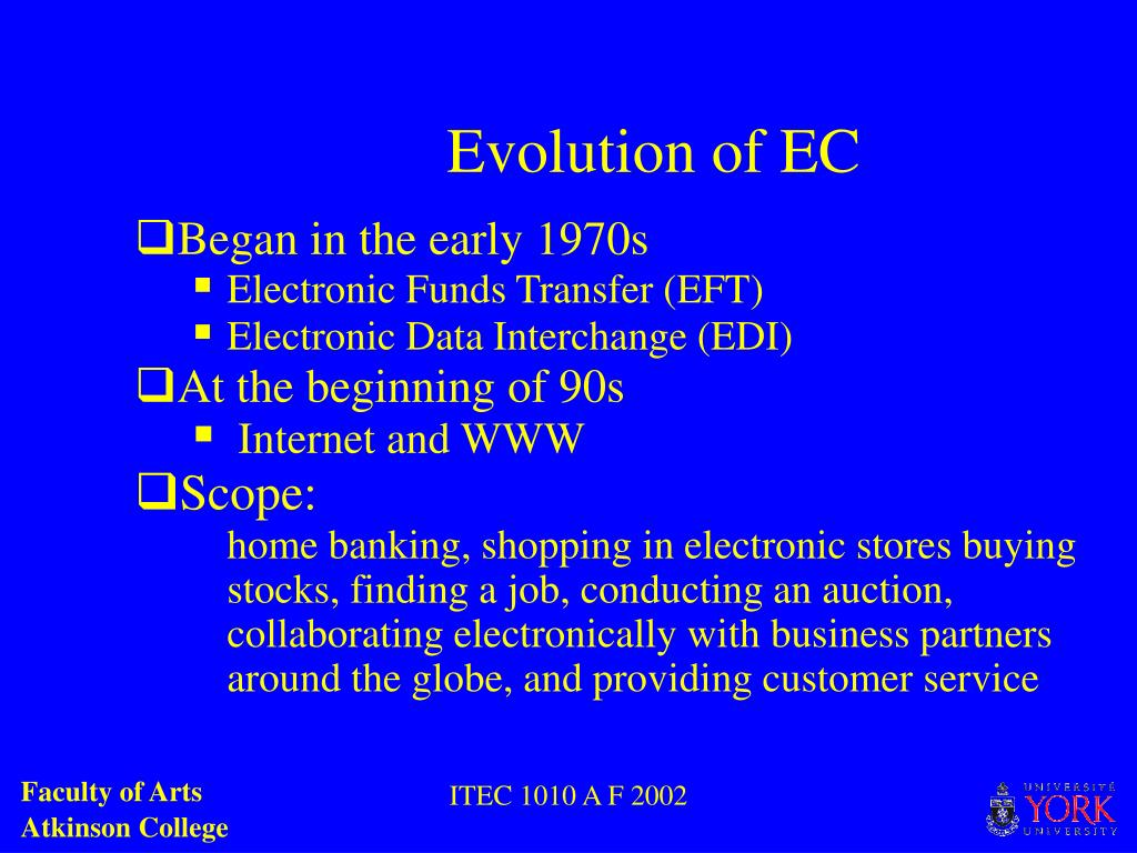 Evolution of EC
