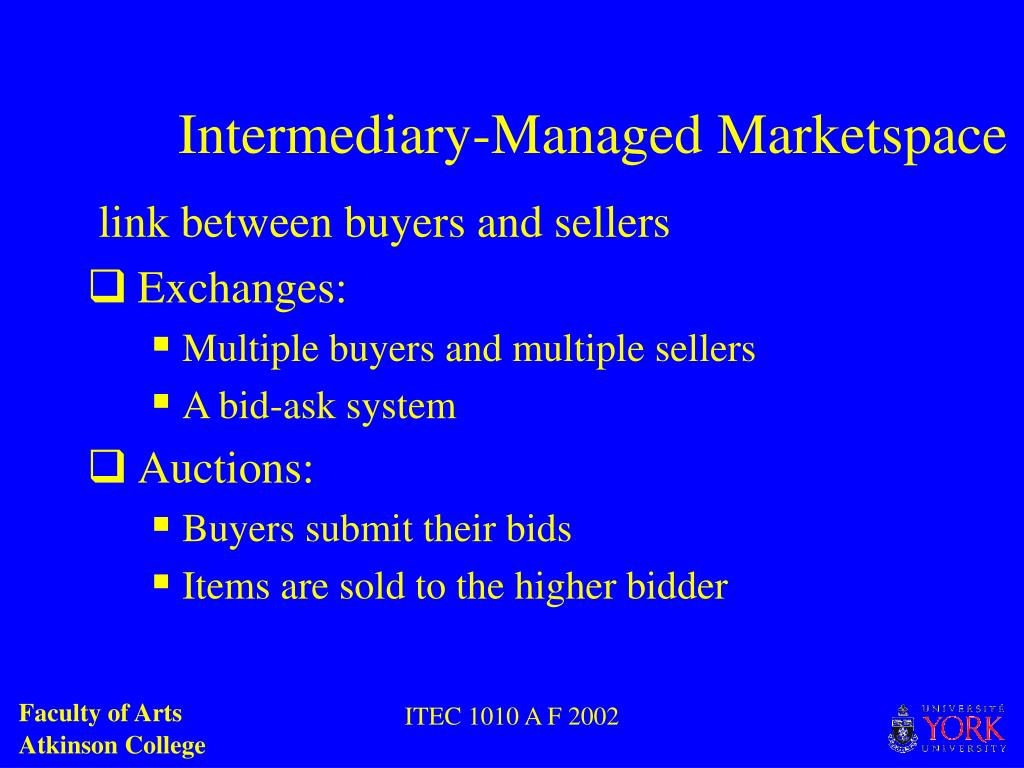 Intermediary-Managed Marketspace