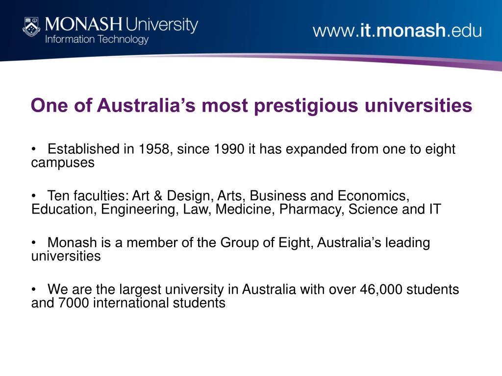 One of Australia's most prestigious universities