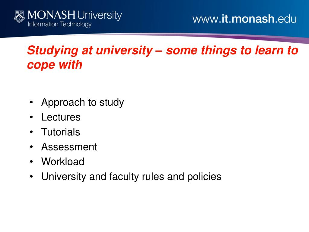 Studying at university – some things to learn to cope with