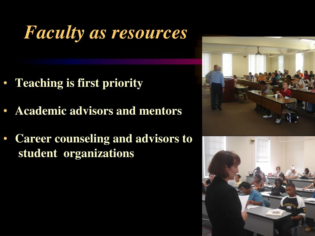 Faculty as resources