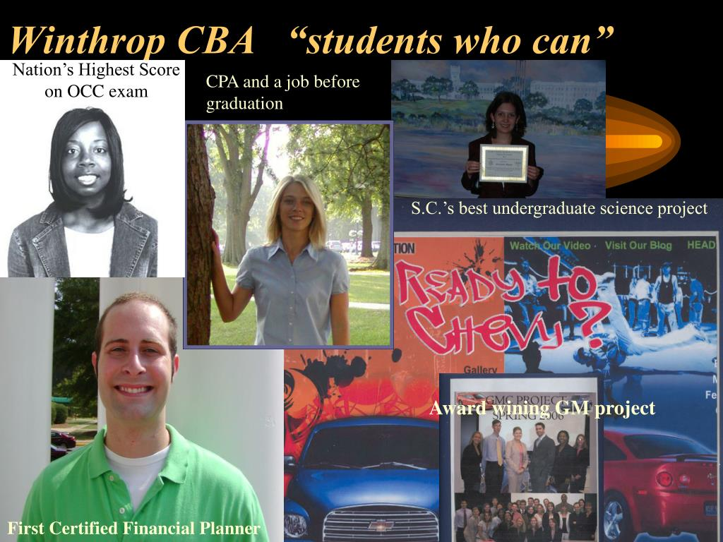 "Winthrop CBA   ""students who can"""