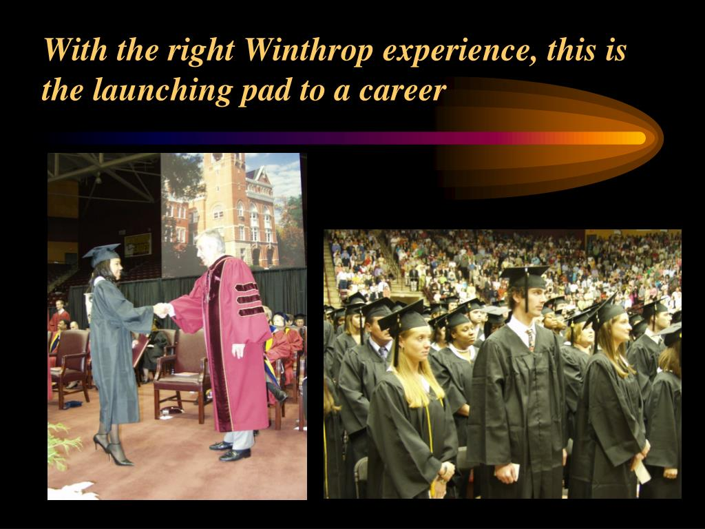 With the right Winthrop experience, this is the launching pad to a career