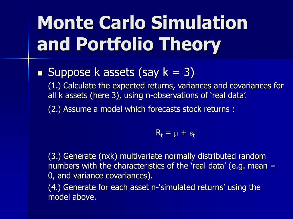 Monte Carlo Simulation and Portfolio Theory