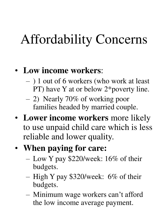 Affordability Concerns