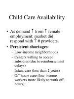 child care availability