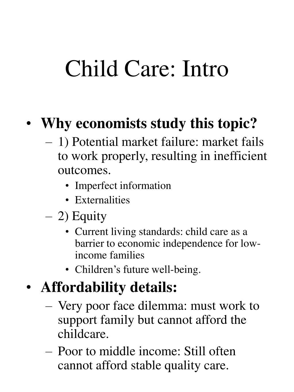 Child Care: Intro