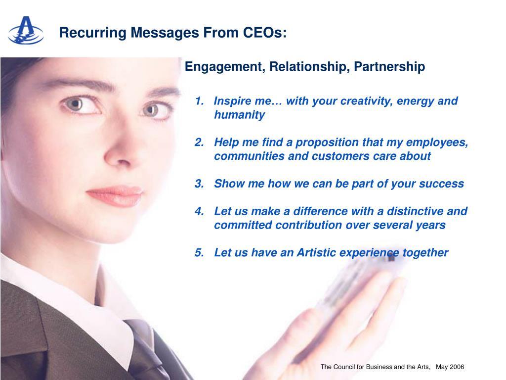 Engagement, Relationship, Partnership