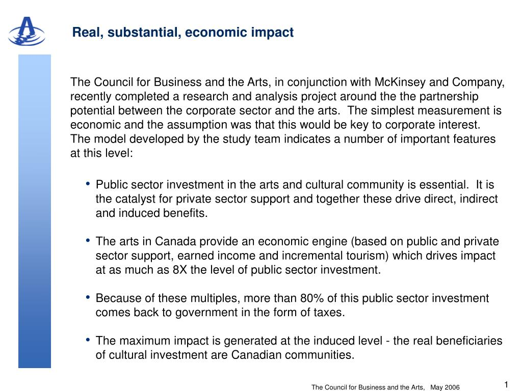 Real, substantial, economic impact