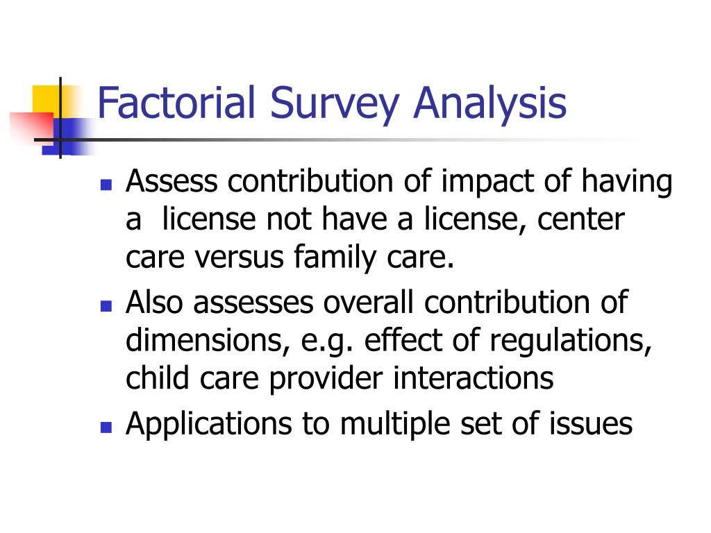 Factorial Survey Analysis