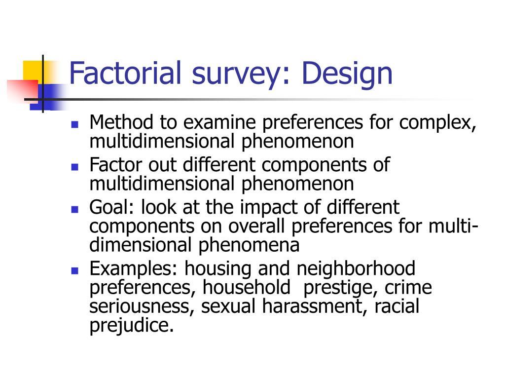 Factorial survey: Design