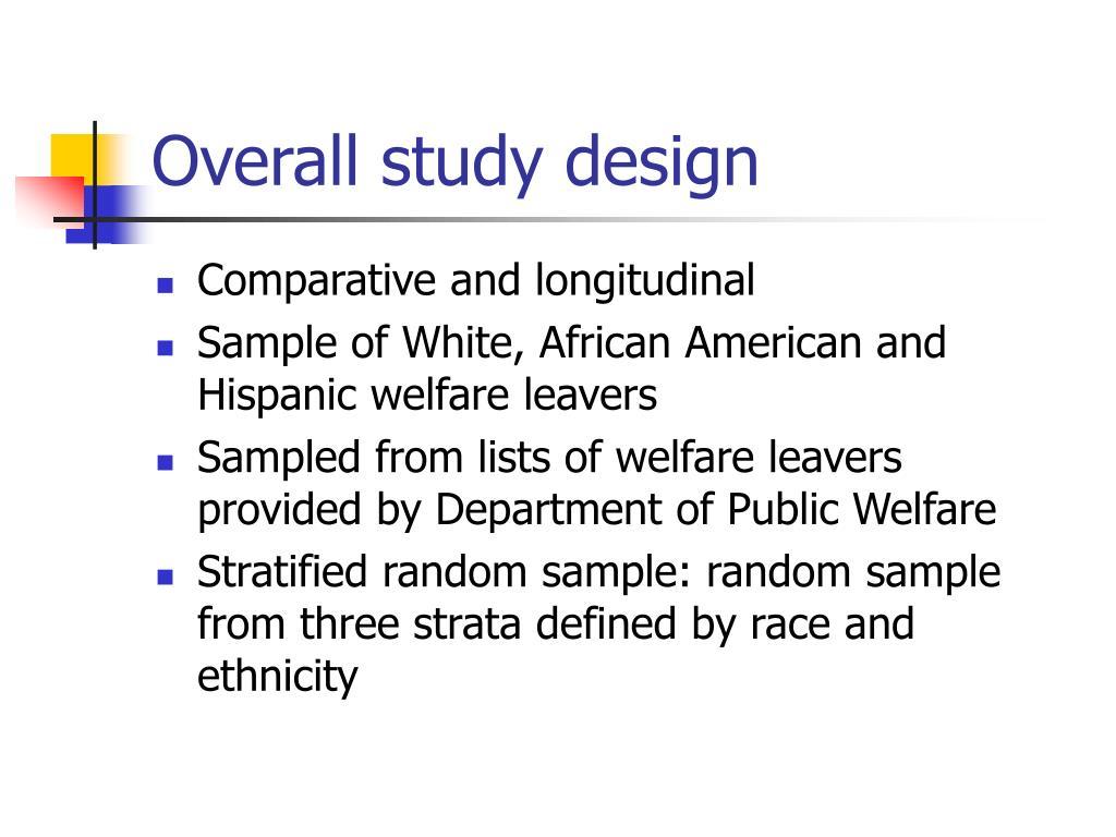 Overall study design