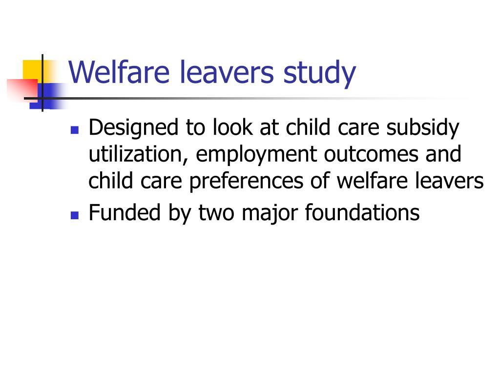 Welfare leavers study