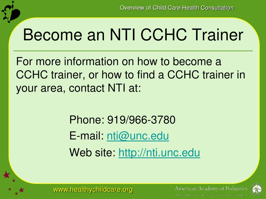 Become an NTI CCHC Trainer