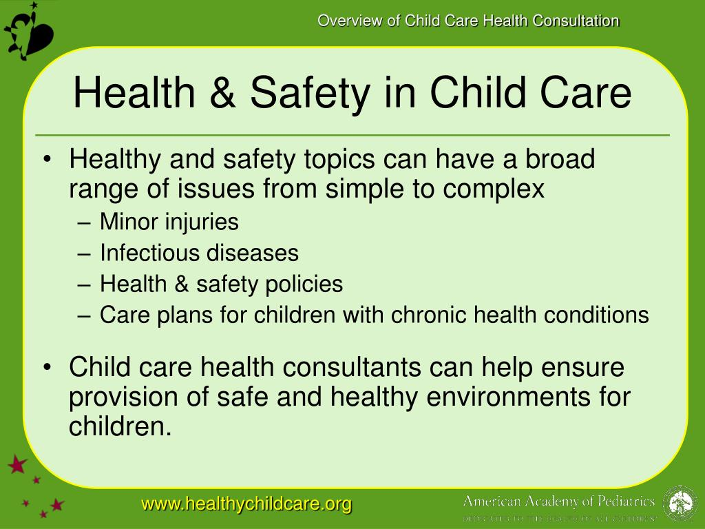 Health & Safety in Child Care