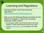 licensing and regulations