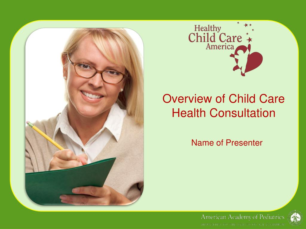 overview of child care health consultation