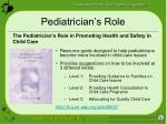 pediatrician s role