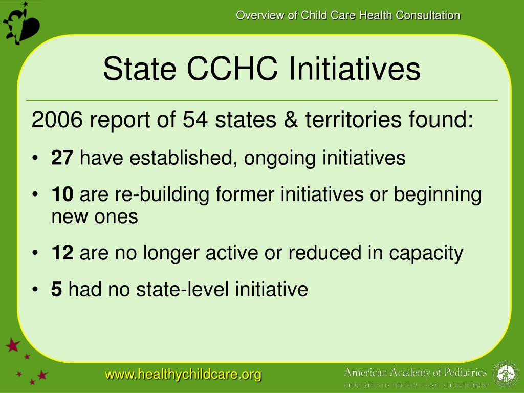 State CCHC Initiatives