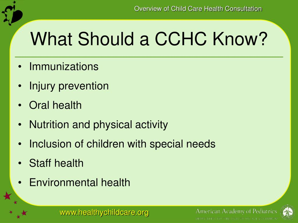 What Should a CCHC Know?