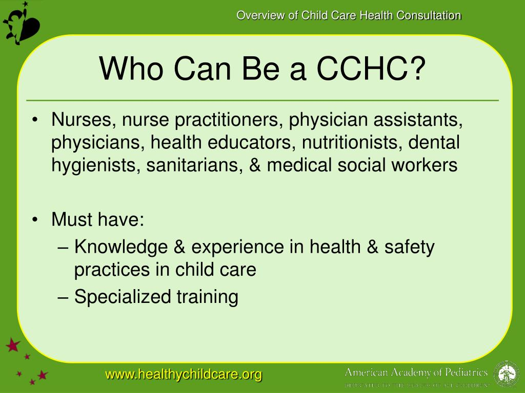 Who Can Be a CCHC?