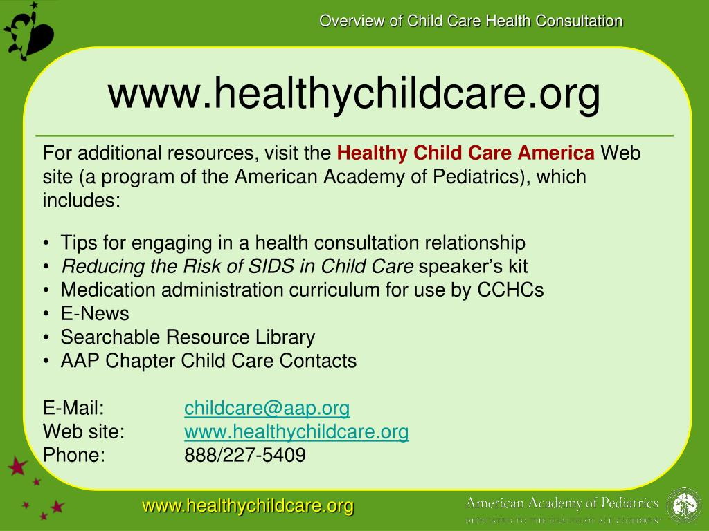 www.healthychildcare.org