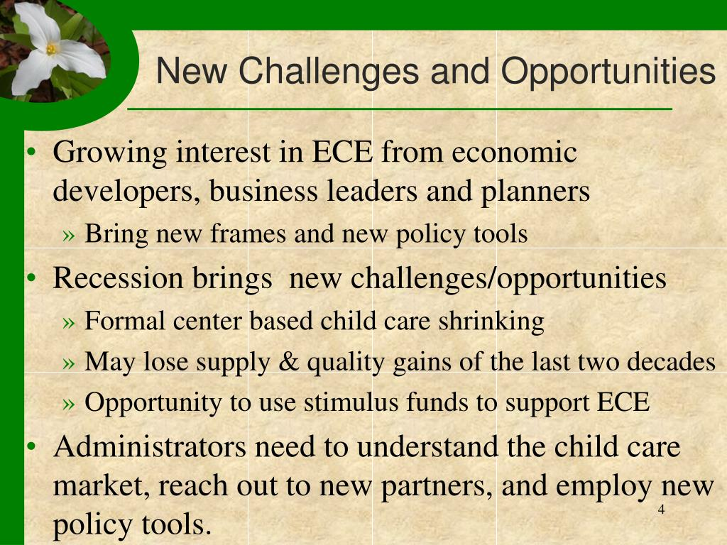 New Challenges and Opportunities