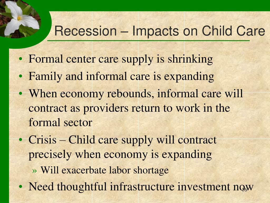 Recession – Impacts on Child Care