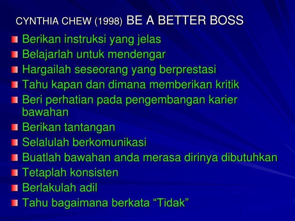 CYNTHIA CHEW (1998)
