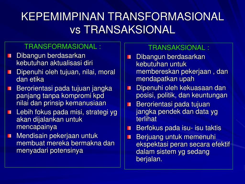 TRANSFORMASIONAL :