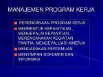 manajemen program kerja