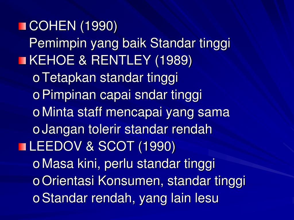 COHEN (1990)