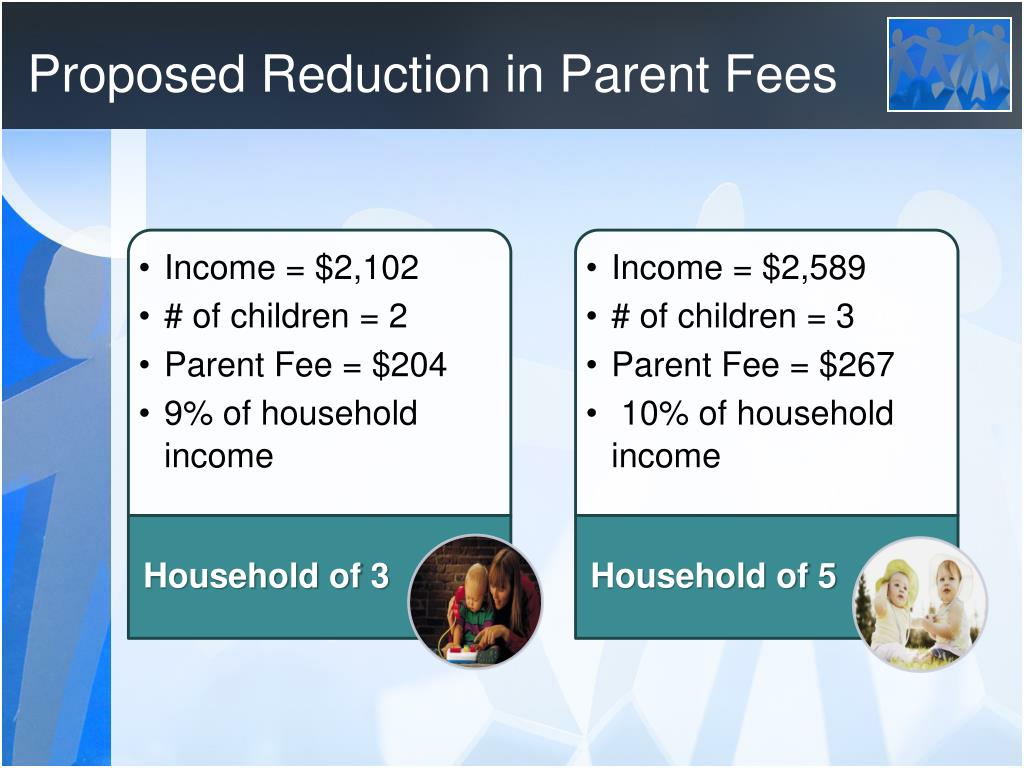 Proposed Reduction in Parent Fees