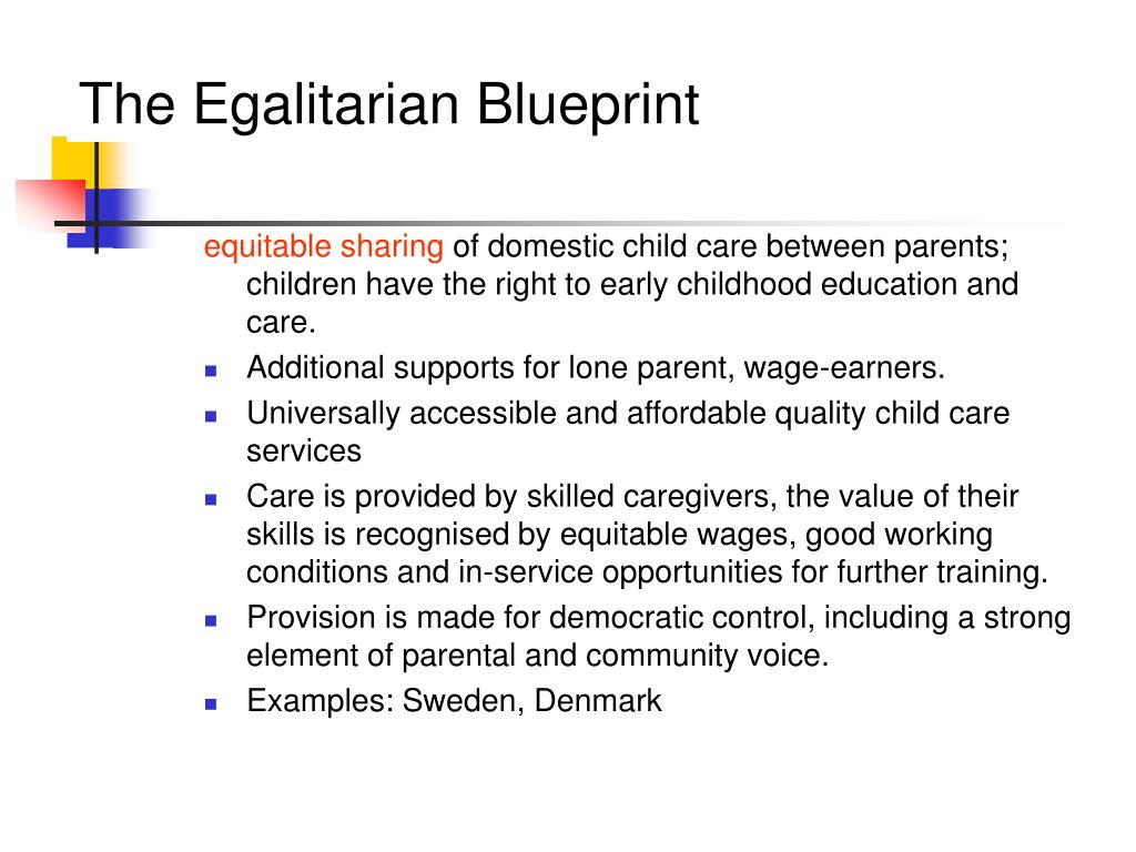 The Egalitarian Blueprint