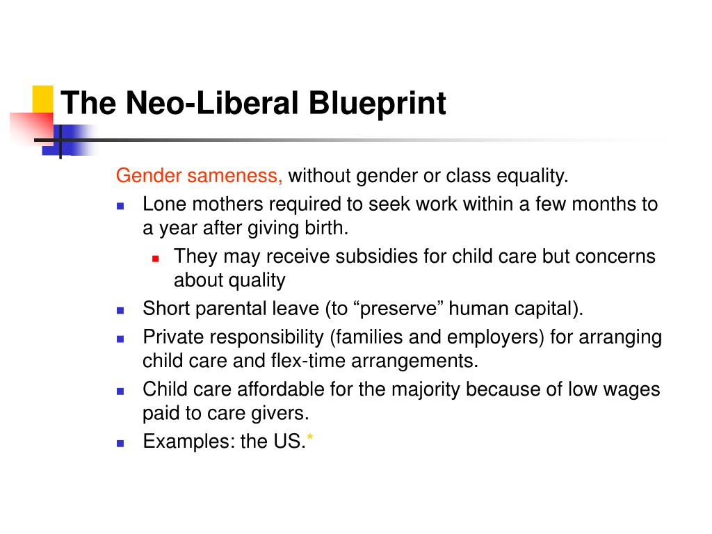 The Neo-Liberal Blueprint