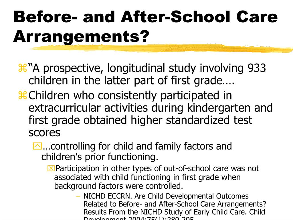 Before- and After-School Care Arrangements?