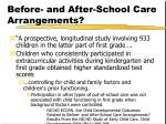 before and after school care arrangements