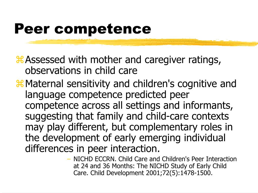 Peer competence