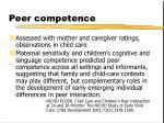 peer competence