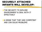 securely attached infants will develop22