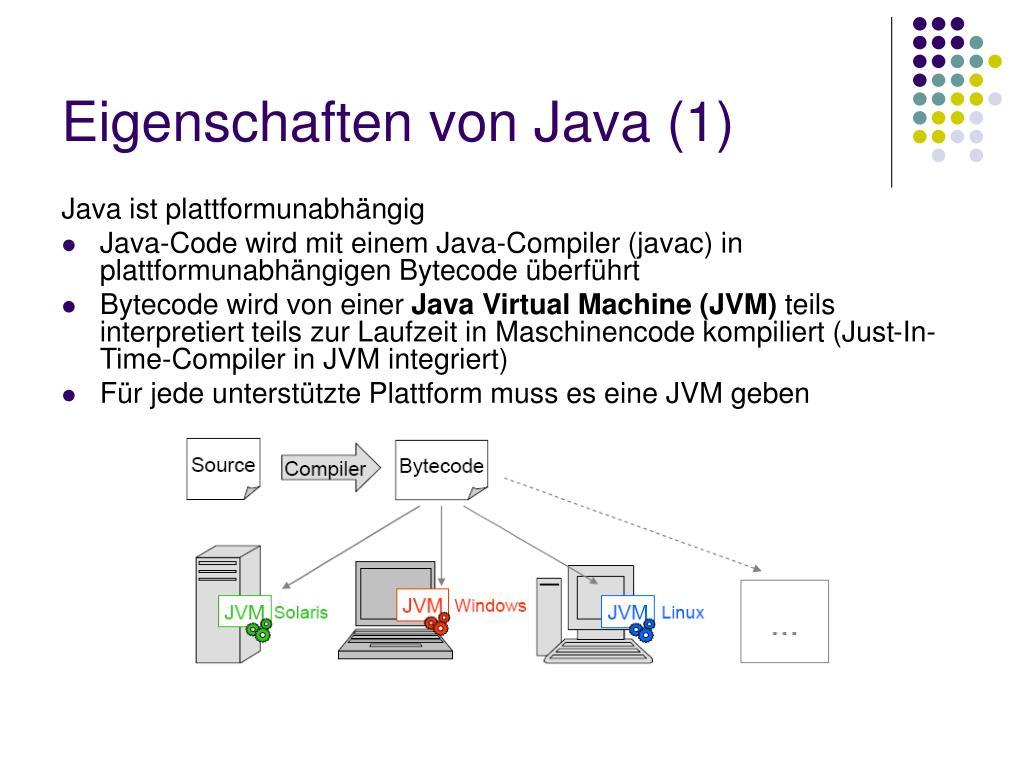 Eigenschaften von Java (1)