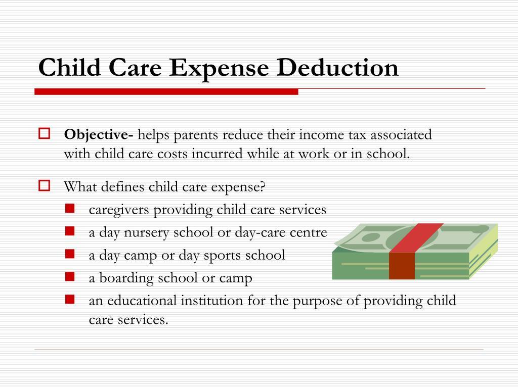 Child Care Expense Deduction