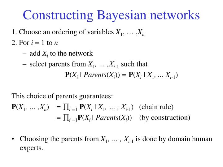 Constructing Bayesian networks