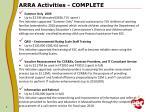 arra activities complete