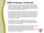 arra proposals continued