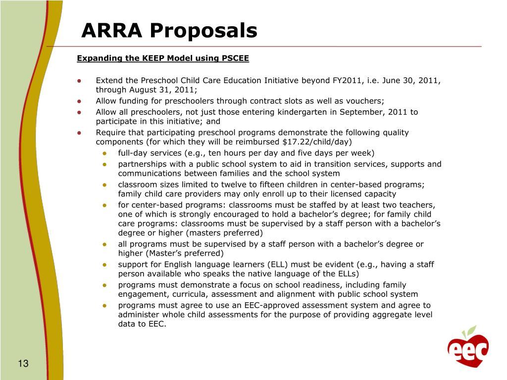 ARRA Proposals