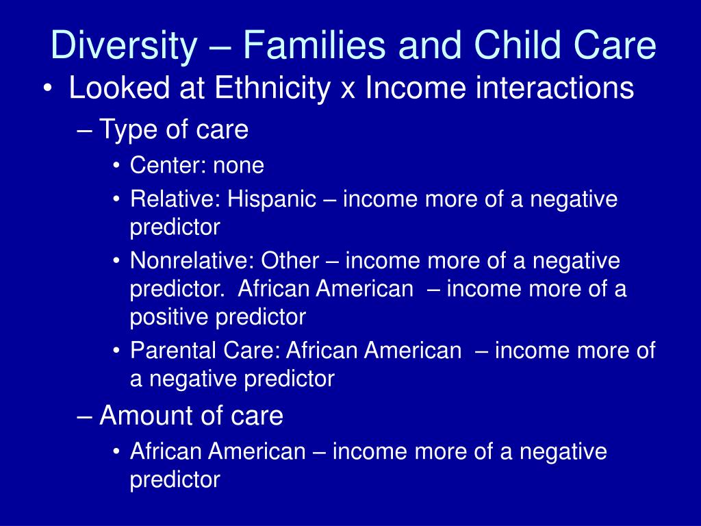 Diversity – Families and Child Care