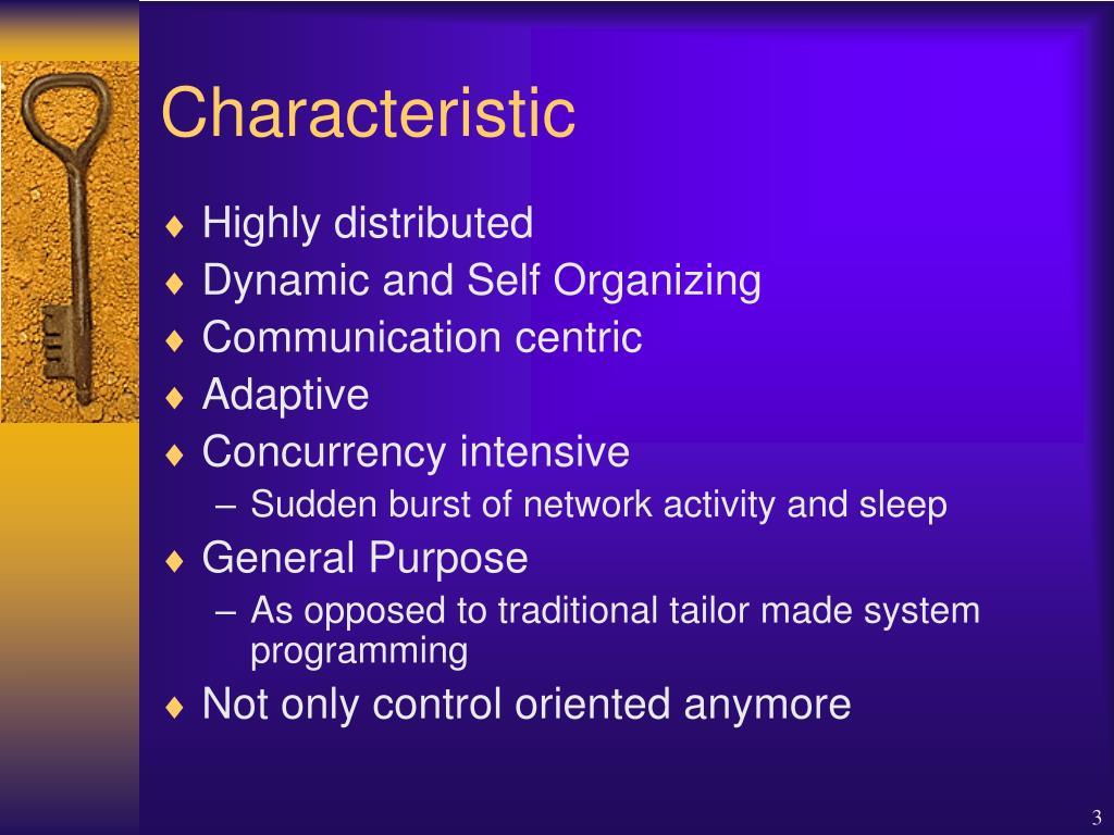 Characteristic