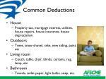 common deductions